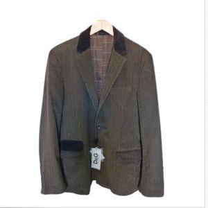 Dolce & Gabbana Mens' Brown Blazer Size 52 Italy